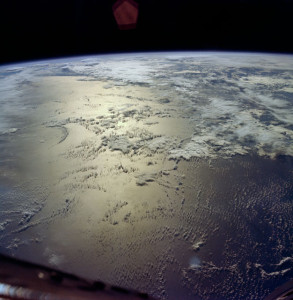 Glorious view of the Indian Ocean, captured by the astronauts of Gemini VI-A (Credits: NASA).