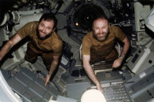 "Whilst Ed Gibson elected not to grow a beard during his mission, his two crewmates, Bill Pogue (left) and Gerry Carr opted for the ""Hairy Monster"" look (Credits: NASA)."