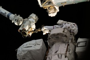 Should an EVA become necessary, it may bear close similarities to the three spacewalks performed by Doug Wheelock (pictured) and Tracy Caldwell-Dyson in August 2010 (Credits: NAS).