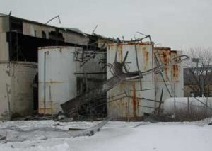 Building damage following an acetylene explosion at ASCO (Credits: US Chemical Safety and Hazard Investigation Board).