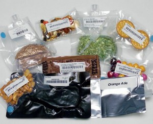 A selection of current space food. – Credits: NASA