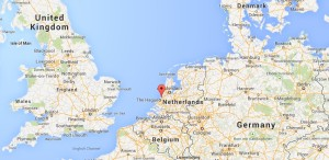 Location of Wassenaar in the Netherlands from which the V-2 rocket was launched (Credits: Google Maps).