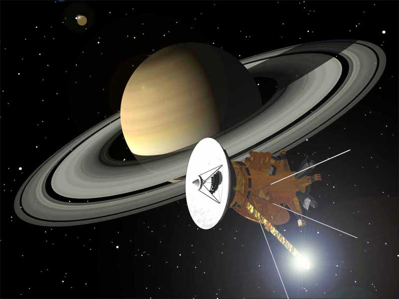 The Cassini space probe (Credits: NASA).