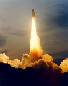 Following an engine replacement, Endeavour roared into orbit on 30 September 1994 (Credits: NASA).