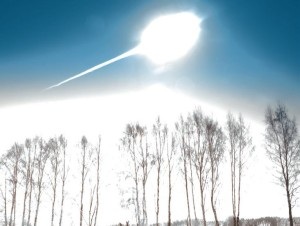 Exploding 32 km off the ground with the force of 30 atomic bombs, the Chelyabinsk meteor sent out a sonic boom that shattered thousands of panes of glass - and was picked up by the infrasound station network (Credits: Marat Ahmetvaleev).