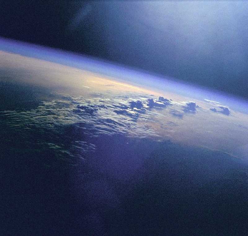 Clouds seen from STS-96 don't need silver lining