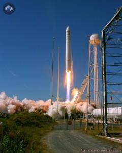 Takeoff of Orbital Sciences' Antares