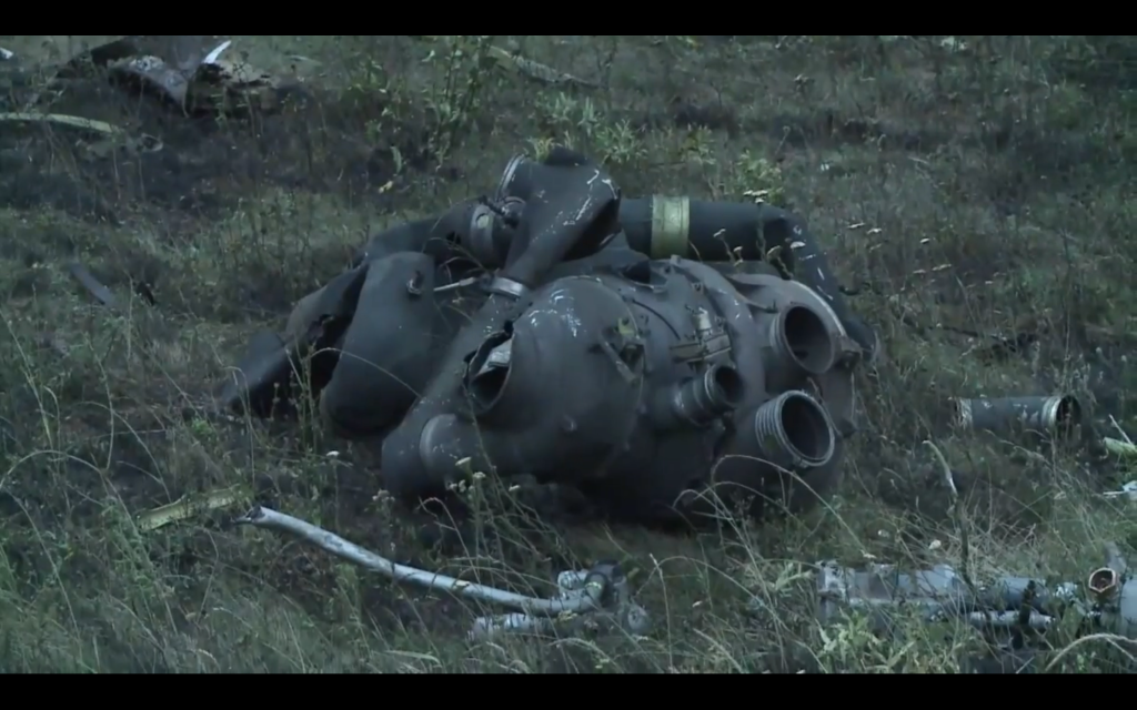 Parts of the wreckage from Malaysian Flight MH17.
