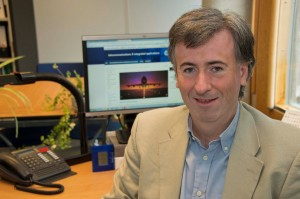 Oscar del Rio Herrero of ESA's Iris program. — Credits: Anneke Le Floc'h/ESA