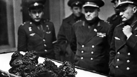 Cosmonaut's Vladimir Komarov body remains.