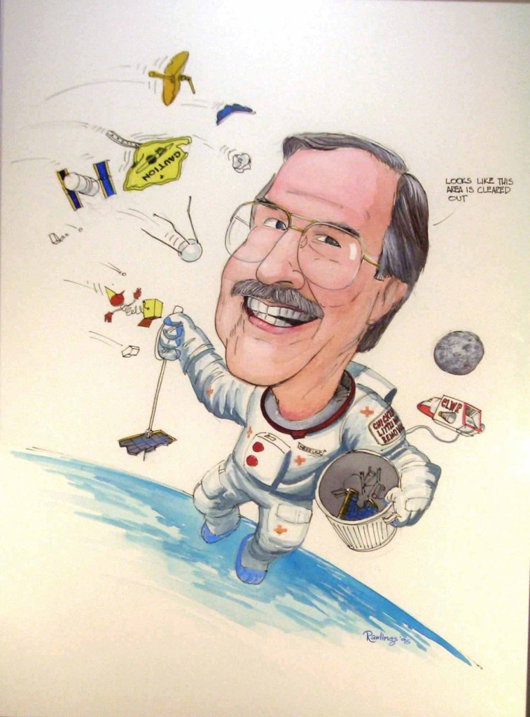 Don Kessler, in a 1996 caricature. - Image Courtesy: Don Kessler.