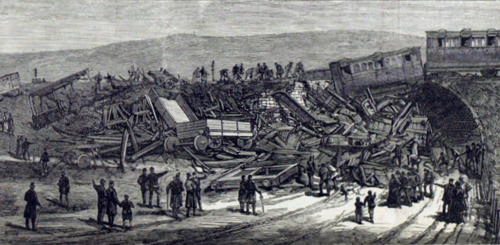 The scene of the railway accident near Aberdeen
