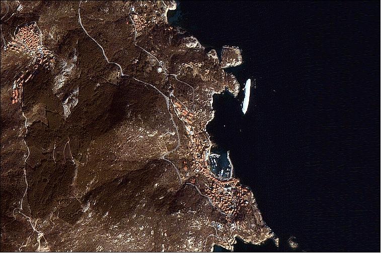 DubaiSat-1 image of the Costa Concordia cruise liner