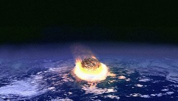 Artist's impression of an asteroid impact event.