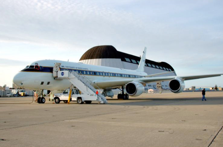 NASA's DC8 airborne laboratory Credit: NASA