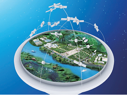 Beidou Satellite Navigation and Positioning System. - Credits: CNSA.