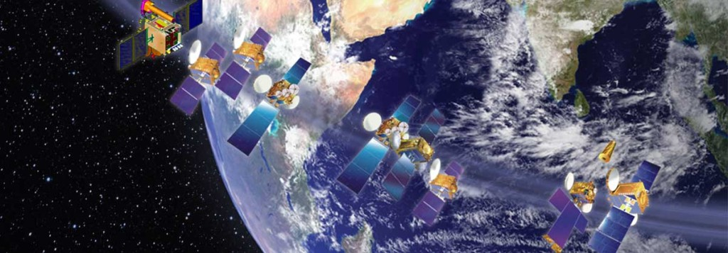 INSAT is one of the largest domestic communication satellite systems in Asia-Pacific region with 9 operational communication satellites placed in Geo-stationary orbit. - Credits: ISRO.