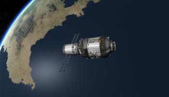 Representation of Tiangong-1 Chinese Space Station credits: kerbalspaceprogram