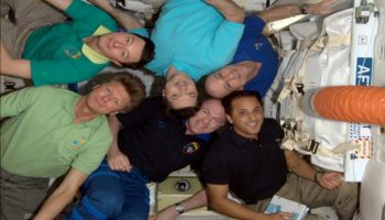 Expedtion 31 displaying current space apparel (Credits: Don Pettit/NASA).