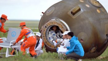 Shenzhou 10 brought back more than its crew from space. The capsule carried Chinese Medicine seeds, irradiated in the hopes of improving potency and speed of growth (Credits: CNN).