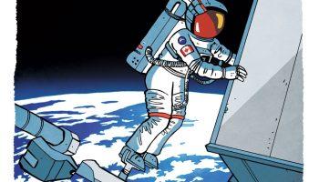 This cartoon frame features Chris Hadfield on EVA (Credits: gavin Aung Than/zenpencils.com)