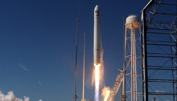 Orbital Sciences Corporation launched the first of the company's Cygnus spacecraft bound for the International Space Station today, Sept. 18, at 10:58 a.m. EDT from NASA's Wallops Flight Facility in Virginia (Credits: Jason Rhian / AmericaSpace).