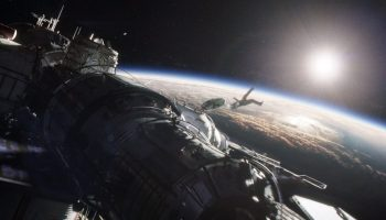 """The movie """"Gravity"""" tells the story of two astronauts stranded in space after their Space Shuttle is destroyed by a debris impact during their EVA (Credits: Warner Bros.)."""