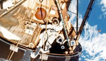 The final Skylab crew was tasked with its first EVA only a week after arriving in space (Credits: NASA).