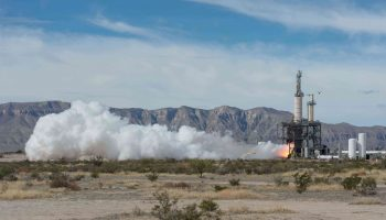 Blue Origin's November 20th BE-3 test fire (Credits: NASA).