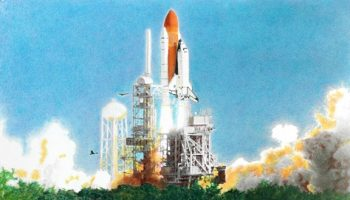 Sacriflight by Lloyd Behrendt, commemorates Columbia's last launch