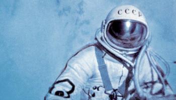 World's first space walk (credits: wikimedia)